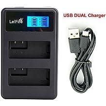LP-E17 USB Dual Cargador de Batería para Canon LC-E17 LC-E17C EOS M3 EOS Rebel T6i EOS Rebel T6s, EOS 750D, EOS 760D, EOS 8000D, Kiss X8i camera