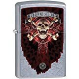 Zippo briquet 15301 anne stokes hell rider choice skull collection 2015/2016, street chrome color image