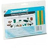 Silverline 349758 Hobby Tool Accessory Kit 3.1 mm Diameter Mandrels, 105-Piece Set