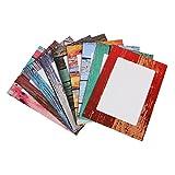demiawaking 917,8cm Foto Papier-Rahmen mit Aufhängern geliefert und Clips zum Aufhängen, farbiges Bild-Fotoalbum zum Aufhängen Rahmen Bild Aufhängen Display Vintage
