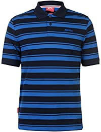 Slazenger Mens Pique Yarn Dye Polo Shirt Button Placket
