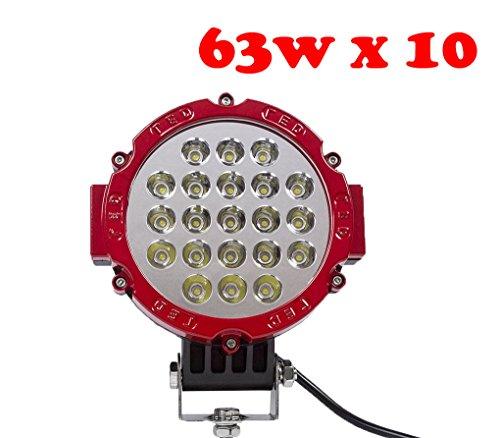 Tanli Lampe de travail à LED pour voitures/SUV/Jeep/bateau 63 W Rouge 10 pièces