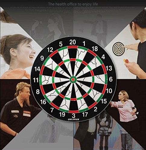 Techno Buzz Deal 100% Original 17 Inch Double Faced Flock Printing  Thickening Family Game Dart Board With Free 6 Needle (17 X 17 Inch) |  Clickonway