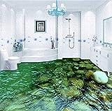 GBHL Bodenbelag Wandbild Tapete HD Natürliche Landschaft Stein Wasser Badezimmer Küche Boden Aufkleber Malerei PVC Wasserdichte Tapete, 400x280 cm (157,5 x 110,2 in)