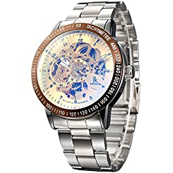 Alienwork IK Automatic Watch Self-winding Skeleton Mechanical Stainless Steel gold silver 98226-19