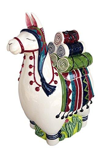 Blue Sky Ceramic Llama Cookie Jar Keksdose, Keramik, Mehrfarbig Keramik Cookie Jar