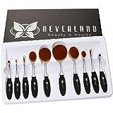 Neverland Beauty 10pcs/set Pro Toothbrush Fondation Shape Sourcils Maquillage Kits Pinceau Poudre Pinceau Makeup Brushes Silver + Black