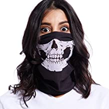 Braga de Cuello y Cara con Calavera Máscara Bufanda Multiusos Pasamontaña para Motorista Halloween