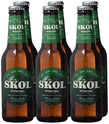 Skol Cerveza - Paquete de 6 x 250 ml - Total: 1500 ml