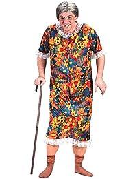 Hommes Clignoteur Granny Grandma Vieille Dame Enterrement De Vie De Garçon Nuit Funny Costume Déguisement