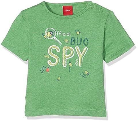 s.Oliver Baby-Jungen T-Shirt Kurzarm, Grün (Green Melange 73W0),