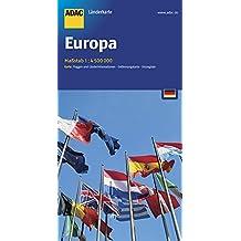 ADAC Länderkarte Europa 1:4,5 Mio. (ADAC Länderkarten)