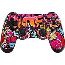 Morbuy PS4 Controller Skin Diseñador Piel Pegatina para Sony PlayStation 4 PS4 Slim PS4 Pro DualShock mando inalámbrico x 1 (Graffiti Rose)