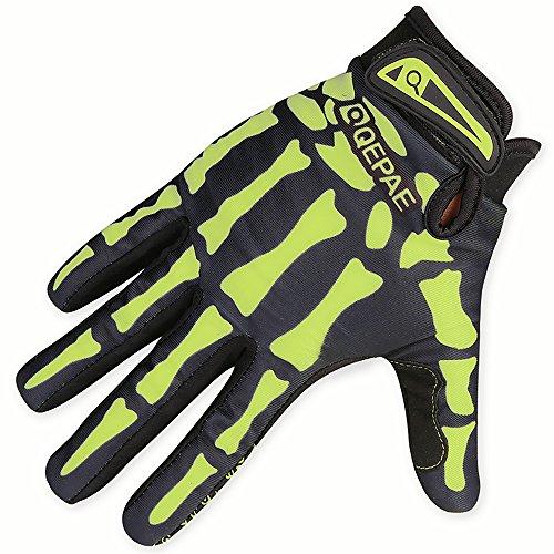 Eizur Radfahren Skelett Handschuhe Fahrradhandschuhe Radsport Handschuhe Warme Fahrrad Vollfingerhandschuhe Skidproof Winterhandschuhe für Fahrrad Motorrad Moto-Cross Größe M/L/XL