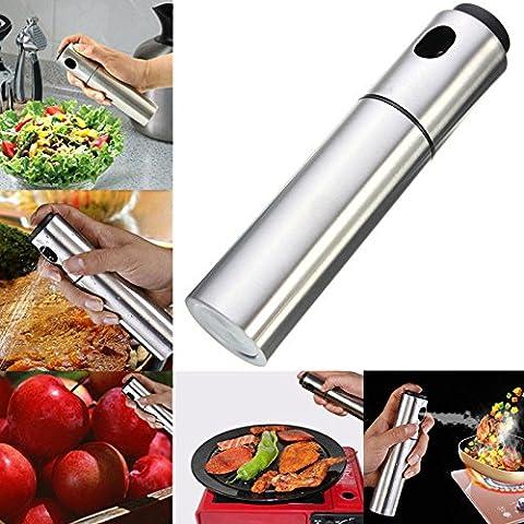 Lanlan 135ml Fassungsvermögen Edelstahl Olivenöl Wassersprüher für Kochen Backen Grill Marinaden Fritteuse Spray Flasche