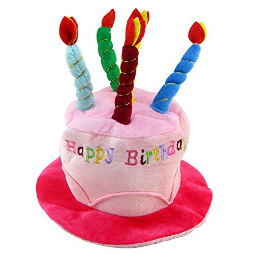 BEETEST Adultos cumpleaños torta vela estilo suave cumpleaños sombrero fiesta fotografía vestuario accesorios artículos de decoración Rosa