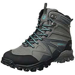 merrell women's capra glacial ice+ mid waterproof high rise hiking boots - 51BYG3xE 2BzL - Merrell Women's Capra Glacial Ice+ Mid Waterproof High Rise Hiking Boots