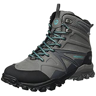 Merrell Women's Capra Glacial Ice+ Mid Waterproof High Rise Hiking Boots 3