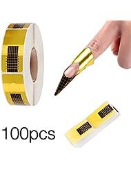 100 Stück Nagelschablonen selbstklebende Goldschablonen Modellierschablonen Modellier für künstliche Fingernagel