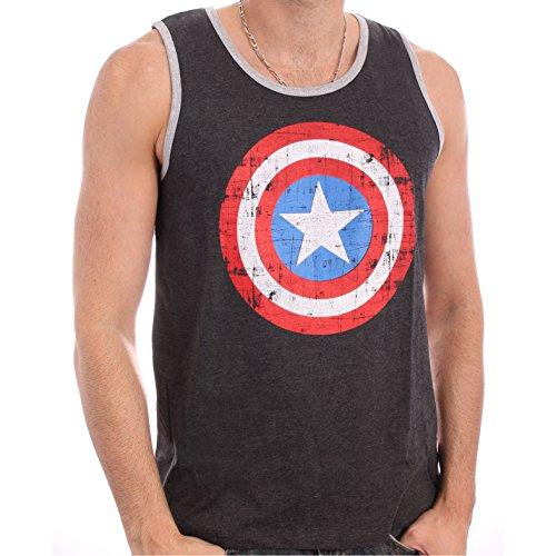 Captain America - Shield Men Tanktop Vest - Grey Melange