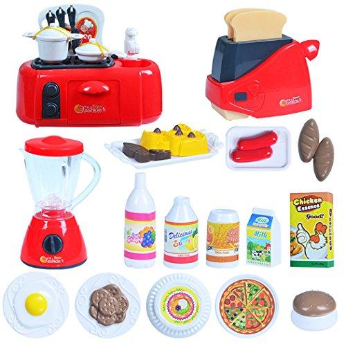 KüChe Spielzeug MäDchen,Fansport DIY KüChe Spielzeug Kochspielzeug Miniaturen KüChe Kochen Spielzeug Puppenhaus ZubehöR Backen Accessoires Mini MöBel Kinder Spielzeug Geschenk Sets Spielzeug Mini