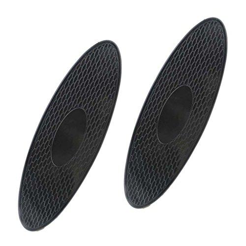 2 x Tapis d'elliptique antidérapant Lilware pour Tableau de Bord de Voiture ou Toute Autre Surface. Support d'équipement Divers - Téléphones, clés et Autres Petits Articles. Noir - Petit