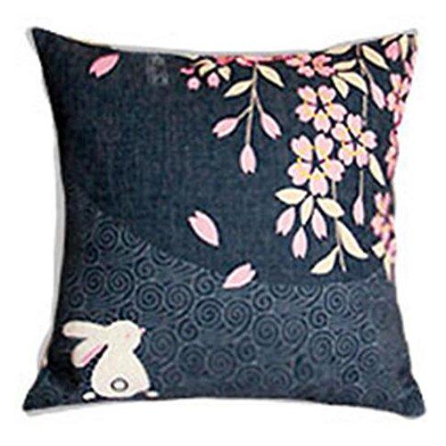 Black Temptation Style Japonais Coussin d'oreiller Confortable pour la Maison/Sushi Restaurant 45x45cm -A3