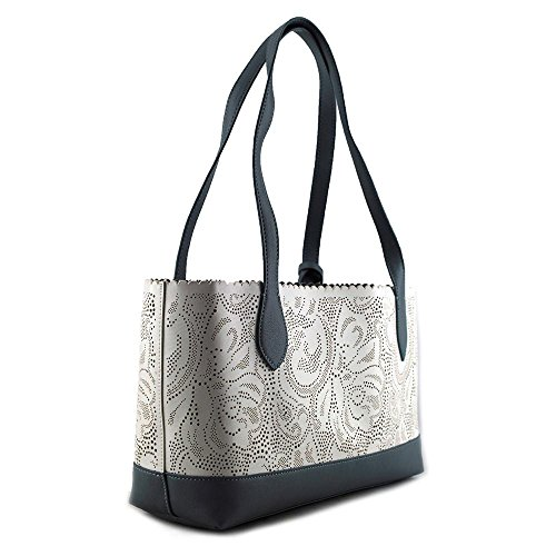Buco Small Bicolor Paisley Tote Donna Ecopelle White/Periwinkle