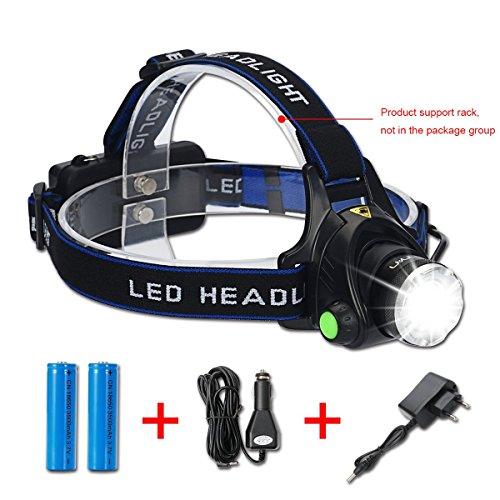 Unionup LED Scheinwerfer Taschenlampe Kit, 2000-lumen Super Hell mit zoombaren Kopf, Rot Sicherheit Licht, 3Modi, Wasserdicht, Licht Scheinwerfer für Camping, Radfahren, Etc.