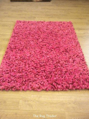 Fondant Truffle Super Soft Shaggy Pink Mix Rug 160cm x 220cm