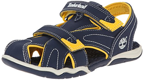 Timberland Active Casual Sandal_Adventure Seeker CT Sandl, Unisex-Kinder Sandalen, Blau (Navy/Yellow), 33 EU