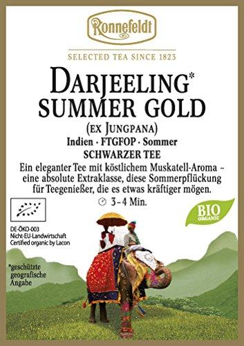 Ronnefeldt – Darjeeling** Summer Gold – Bio – Schwarzer Tee aus Darjeeling