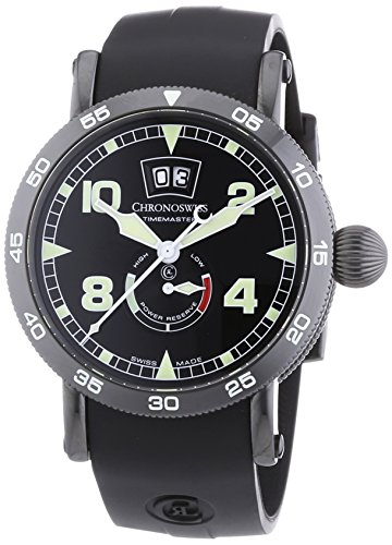 chronoswiss-timemaster-big-date-mens-automatic-watch-with-black-dial-analogue-display-and-black-stra