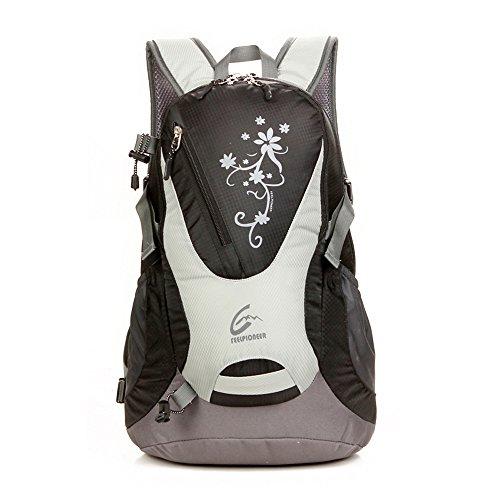 sfeibo scuola Zaini moda stampa Graffiti Zaino 30L nylon impermeabile zaino Campeggio Ciclismo Arrampicata Escursionismo Zaino Borsa da viaggio, donna Uomo, rosered Black