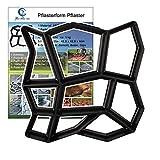 YAOBLUESEA Stampo per pavimentazione manuale in cemento DIY Pavimentazione cemento strumenti Stampo Road 42,5 x 42,5 x 4 cm