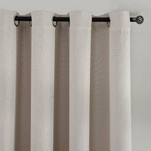 Top Finel tende oscuranti con occhielli camera da letto soggiorno,140 x 245 cm, 1 pezzo, Crema
