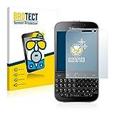 brotect Schutzfolie Matt Blackberry Classic Q20 Anti-Reflex Displayschutzfolie [2 Stück] Entspiegelte Folie Displayfolie Anti-Fingerprint