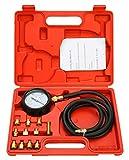 FreeTec 13tlg. Motor Öldruck Tester Öldruckprüfer Messgerät Öldrucktester Werkzeug Prüfer 0-35 bar