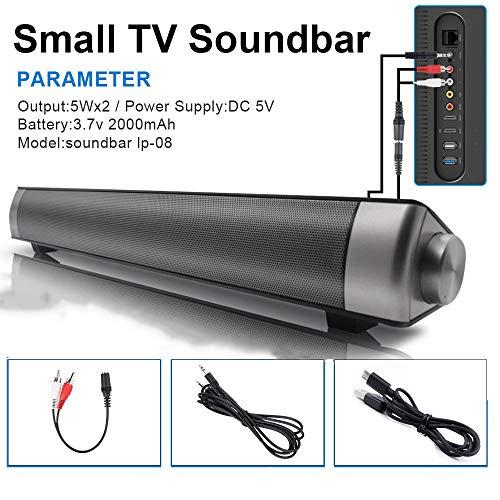 Lecc Barra De Sonido Bluetooth con Cable E Inalámbrico Altavoz Bluetooth Altavoz...