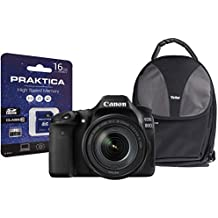 Canon EOS 80D SLR Camera Kit with EF-S 18-135 mm IS USM Lens/16 GB SD Card and Case - Black