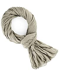 FOULARD CHECHE LÉGER TAUPE 185 X 95 CM 100% COTON