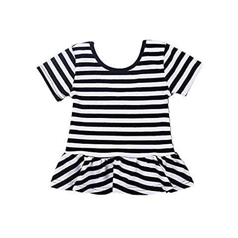 BOBORA Summer Girls Baby Girl's Short Sleeves T shirts Casual Blouse Tops Children's Clothing