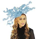Hats By Cressida Ascot 501Sinamay Locken Ascot/Kentucky Derby Fascinator mit Haarband Gr. Einheitsgröße, Blau - Babyblau
