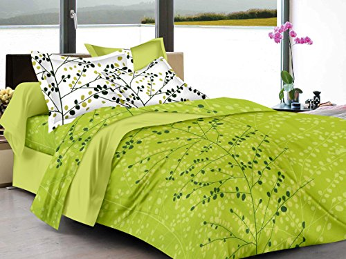 Ahmedabad Cotton Superior 160 TC Cotton Double Bedsheet with 2 Pillow Covers...