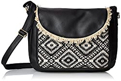 Kanvas Katha Womens Handbag (Black) (KKSMX007)
