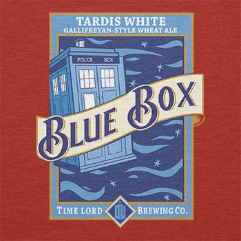 TEXLAB - Blue Box White Ale - Herren T-Shirt Rot