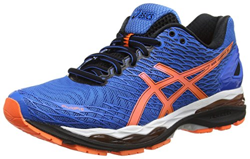 ASICS Gel-nimbus 18 - Scarpe Running Uomo, Blu (electric Blue/hot Orange/black 3930), 42,5 EU