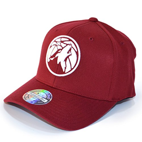 Mitchell & Ness Snapback 110 Curved the Burgundy Minnesota Timberwolves burgundy/white (Minnesota Timberwolves Hat)