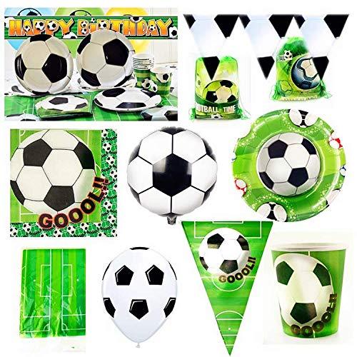 Fußball Sport Student Thema Papier Geschirr Teller Tasse Banner Servietten Tischdecke Topper Ballon Bag Favor Party Geburtstagsgeschenk, Popcorn Box X6