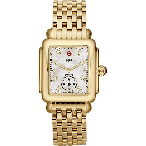Michele MWW06V000004 - Reloj para mujeres, correa de acero inoxidable color dorado